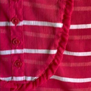 GAP Tops - Gap Pink/White Sleeveless Top